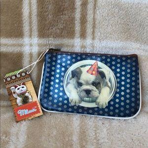 New Mlavi Kawaii Style Bulldog Vegan Pouch 🐶